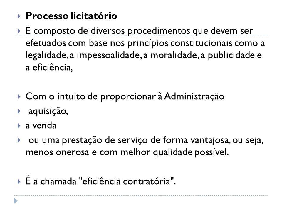 Processo licitatório