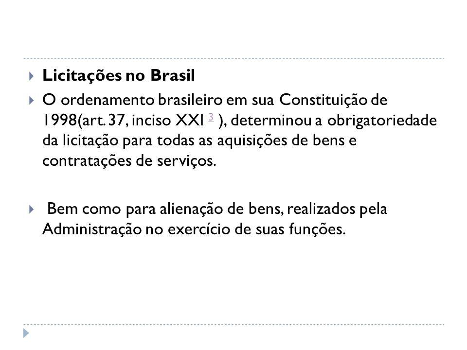 Licitações no Brasil