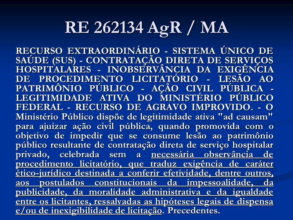 RE 262134 AgR / MA
