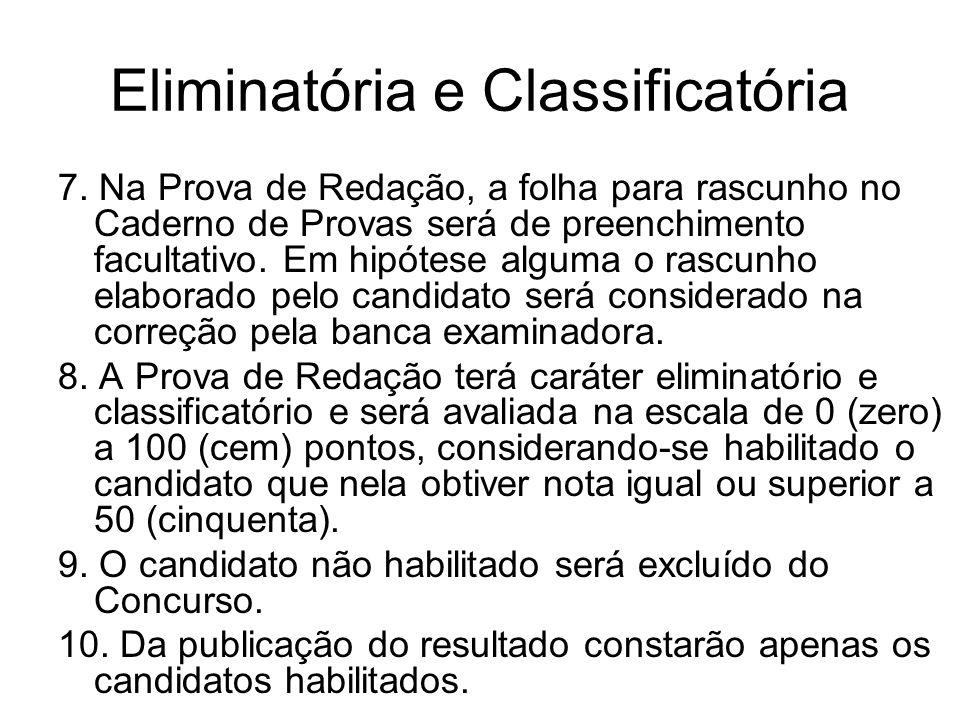 Eliminatória e Classificatória