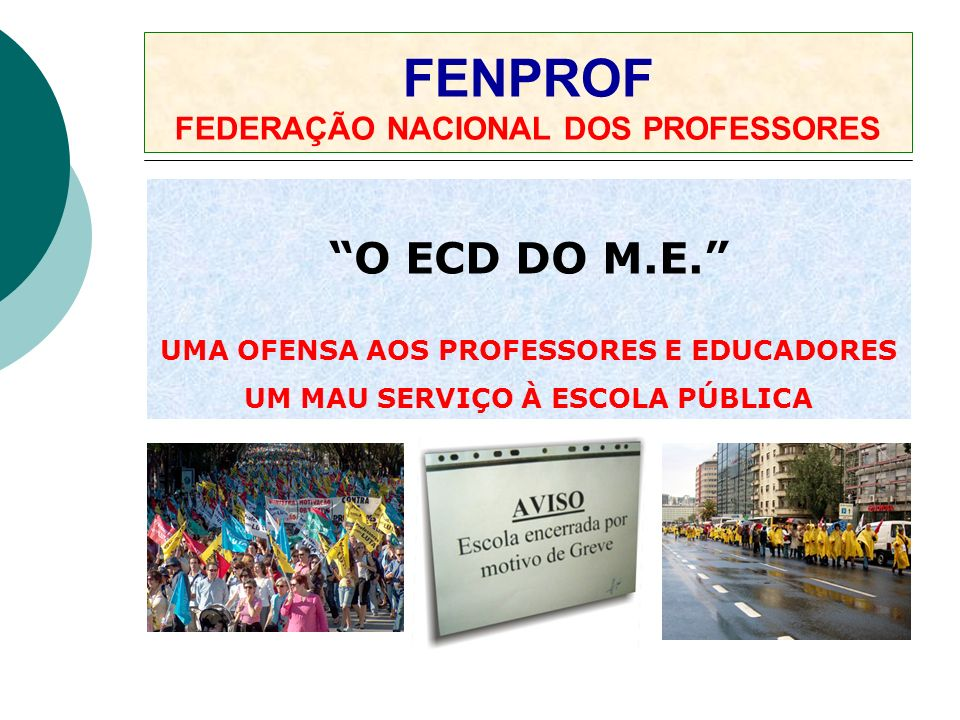 FENPROF FEDERAÇÃO NACIONAL DOS PROFESSORES