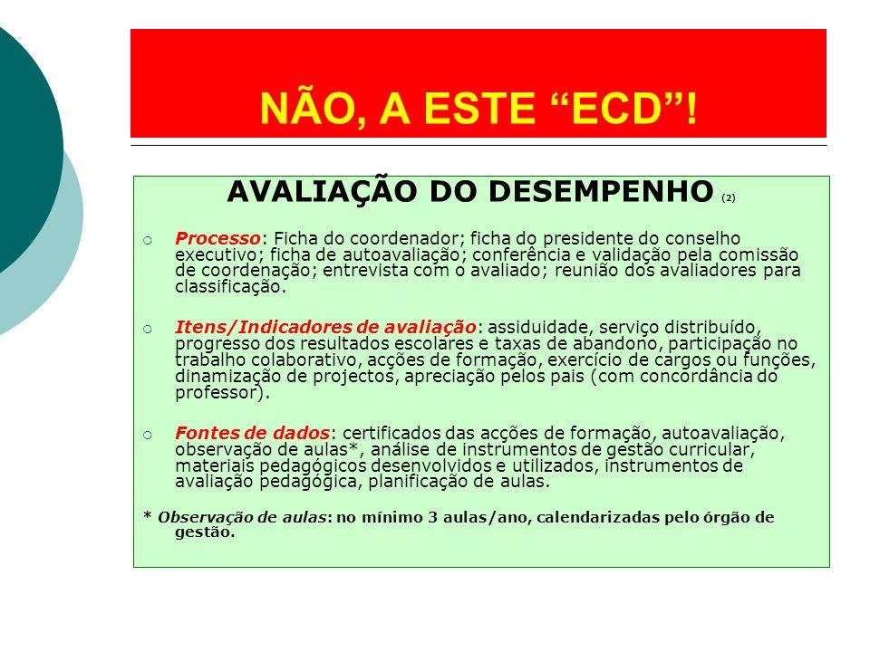 AVALIAÇÃO DO DESEMPENHO (2)