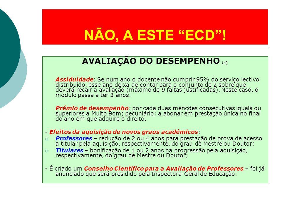 AVALIAÇÃO DO DESEMPENHO (4)