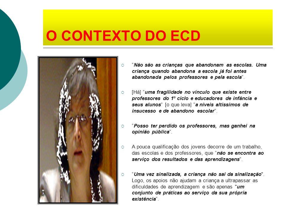 O CONTEXTO DO ECD