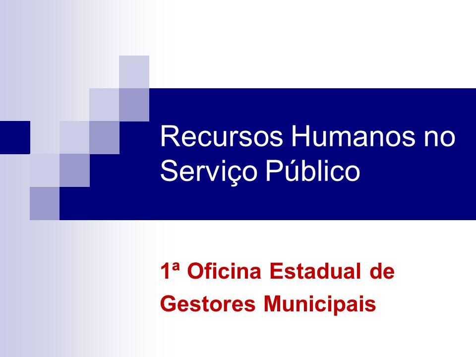 Recursos Humanos no Serviço Público