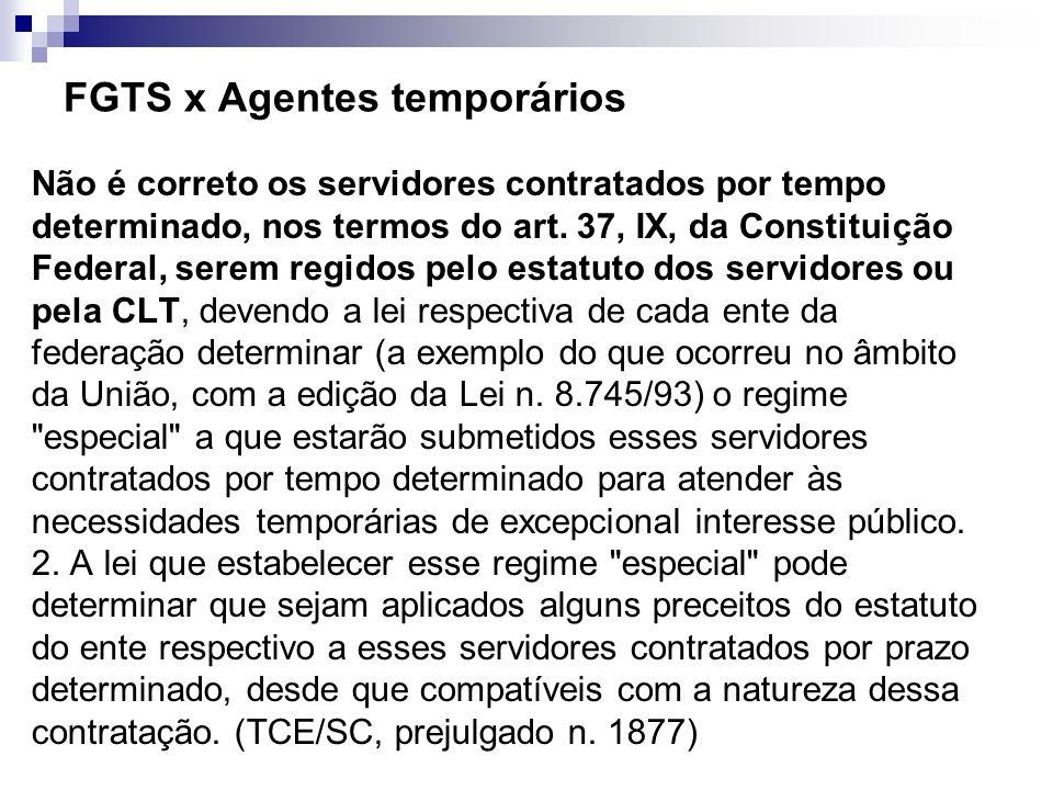 FGTS x Agentes temporários