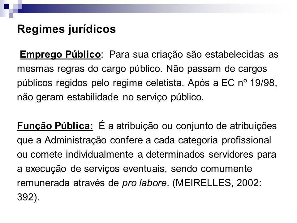 Regimes jurídicos