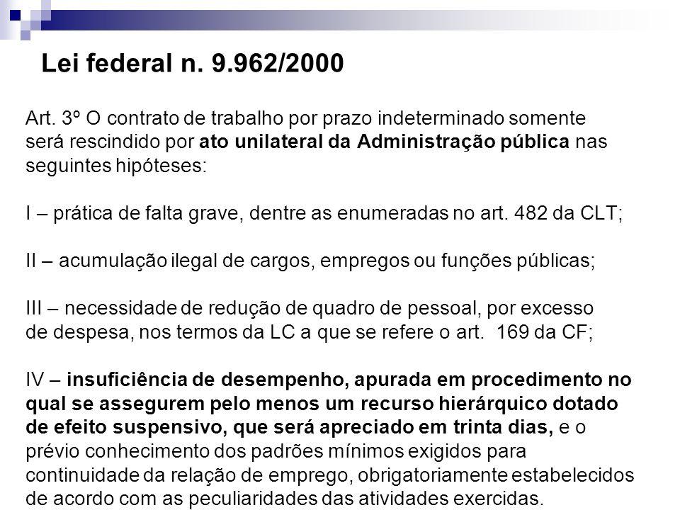 Lei federal n. 9.962/2000