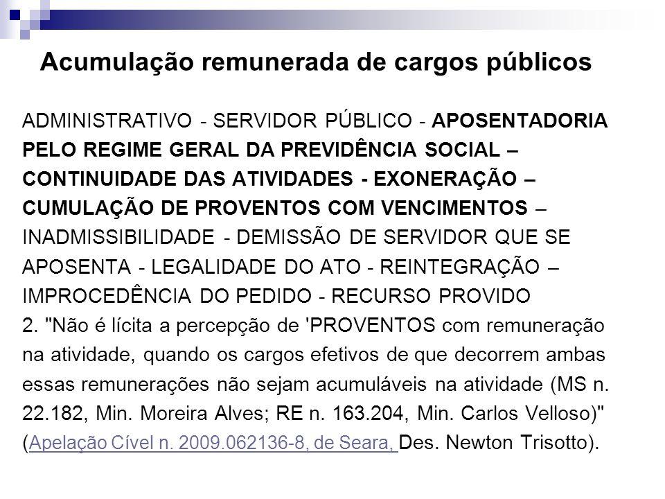 Acumulação remunerada de cargos públicos