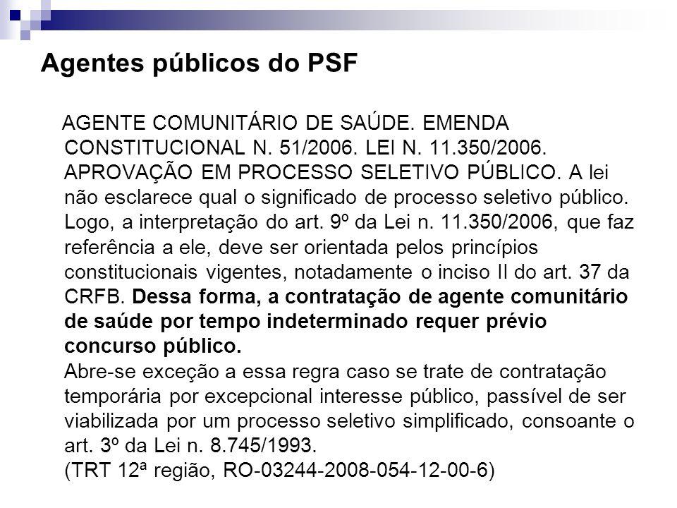 Agentes públicos do PSF