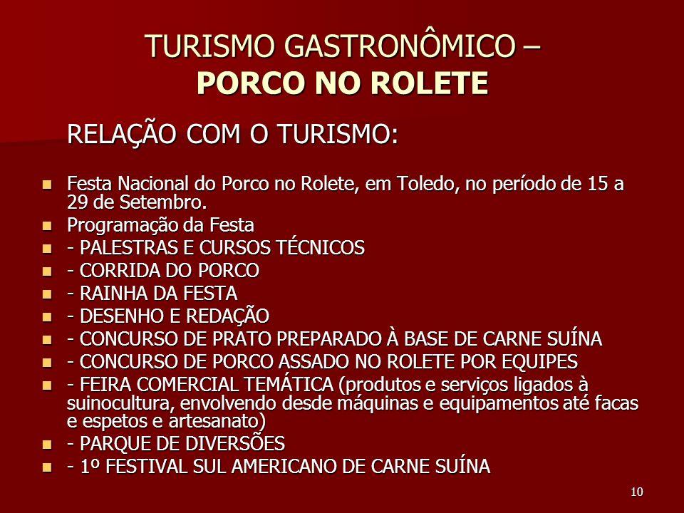 TURISMO GASTRONÔMICO – PORCO NO ROLETE