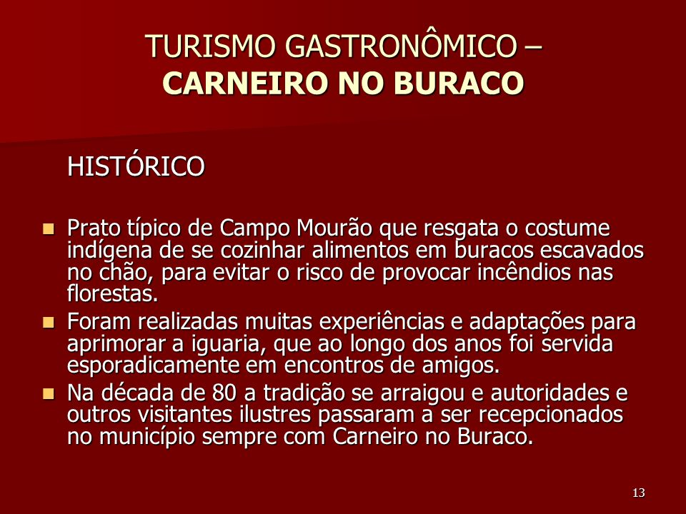 TURISMO GASTRONÔMICO – CARNEIRO NO BURACO