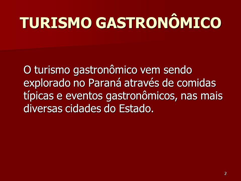 TURISMO GASTRONÔMICO