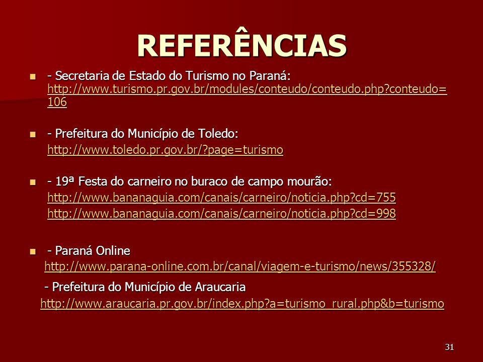 REFERÊNCIAS - Prefeitura do Município de Araucaria