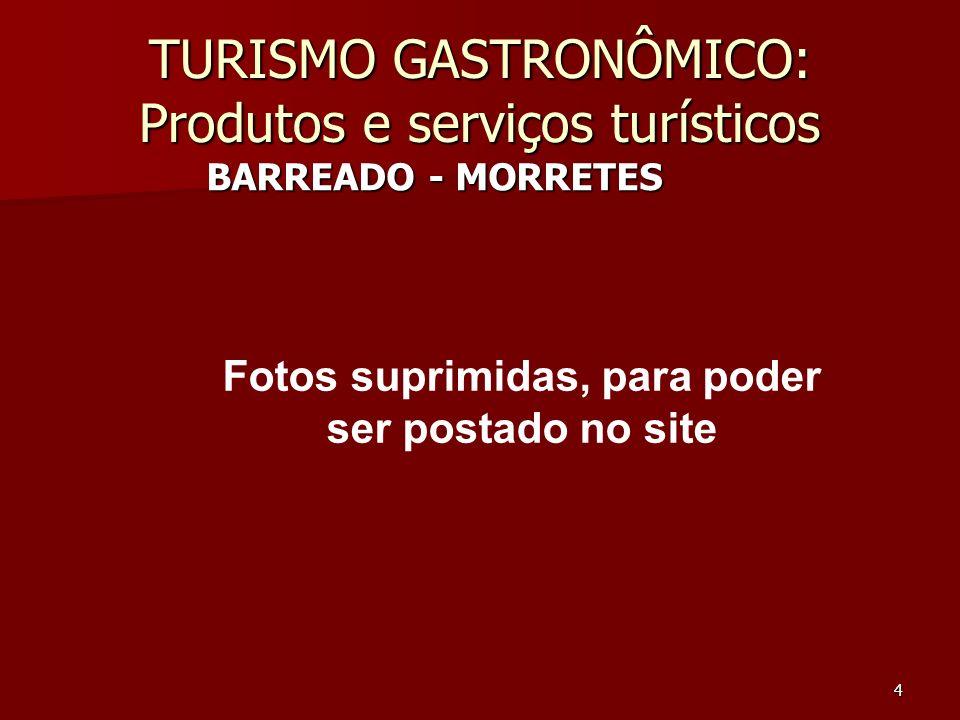TURISMO GASTRONÔMICO: Produtos e serviços turísticos