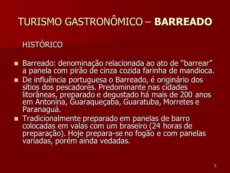 TURISMO GASTRONÔMICO – BARREADO