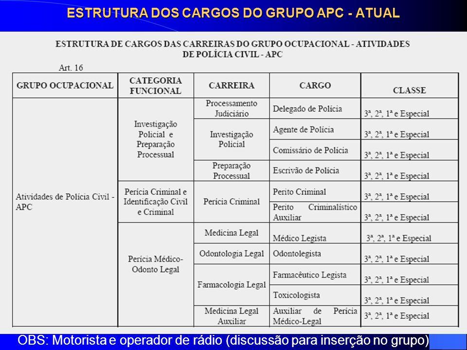ESTRUTURA DOS CARGOS DO GRUPO APC - ATUAL