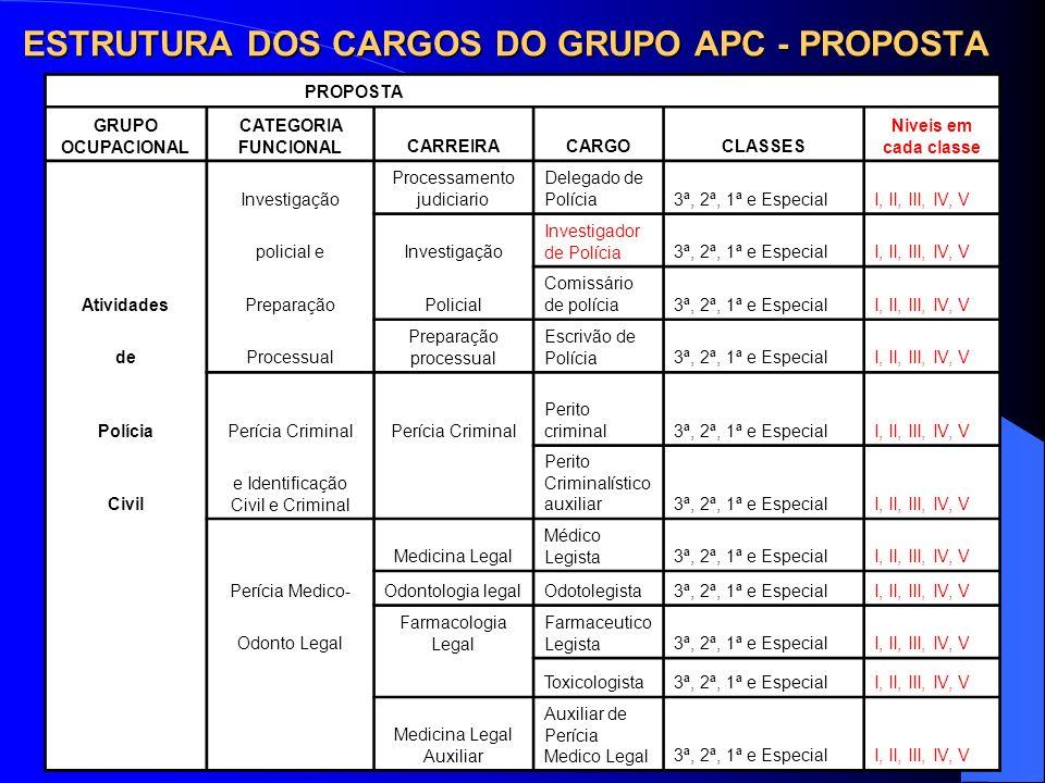 ESTRUTURA DOS CARGOS DO GRUPO APC - PROPOSTA