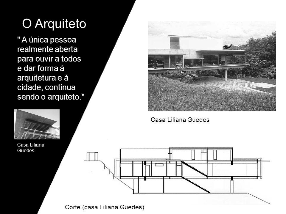 O Arquiteto A única pessoa realmente aberta para ouvir a todos e dar forma à arquitetura e à cidade, continua sendo o arquiteto.