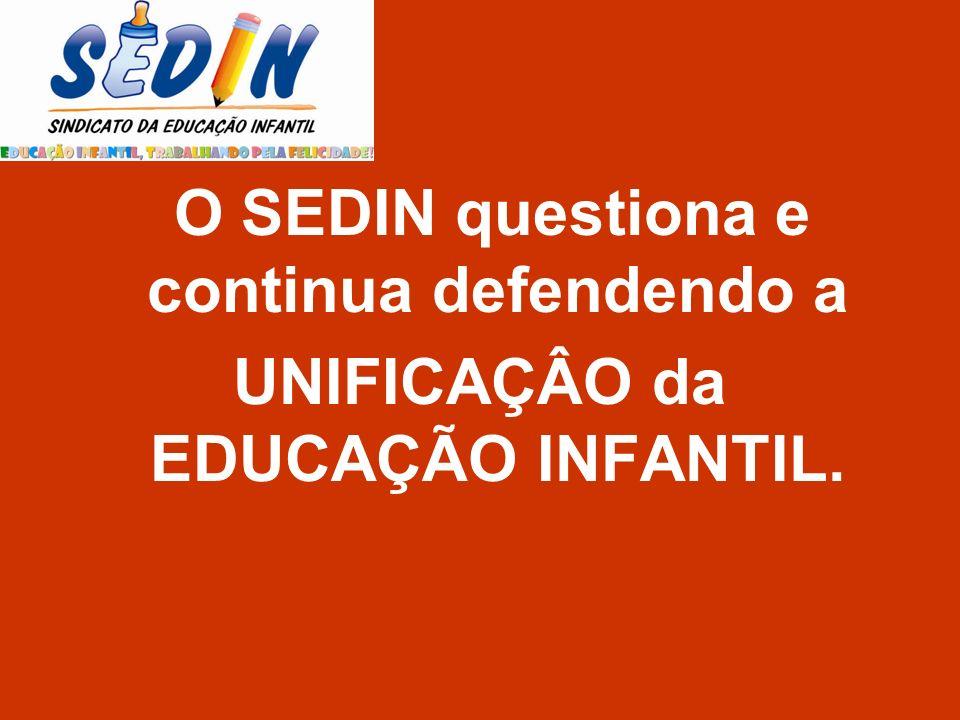 UNIFICAÇÂO da EDUCAÇÃO INFANTIL.
