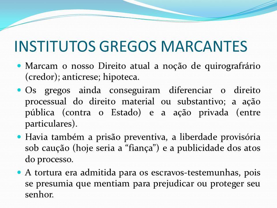 INSTITUTOS GREGOS MARCANTES