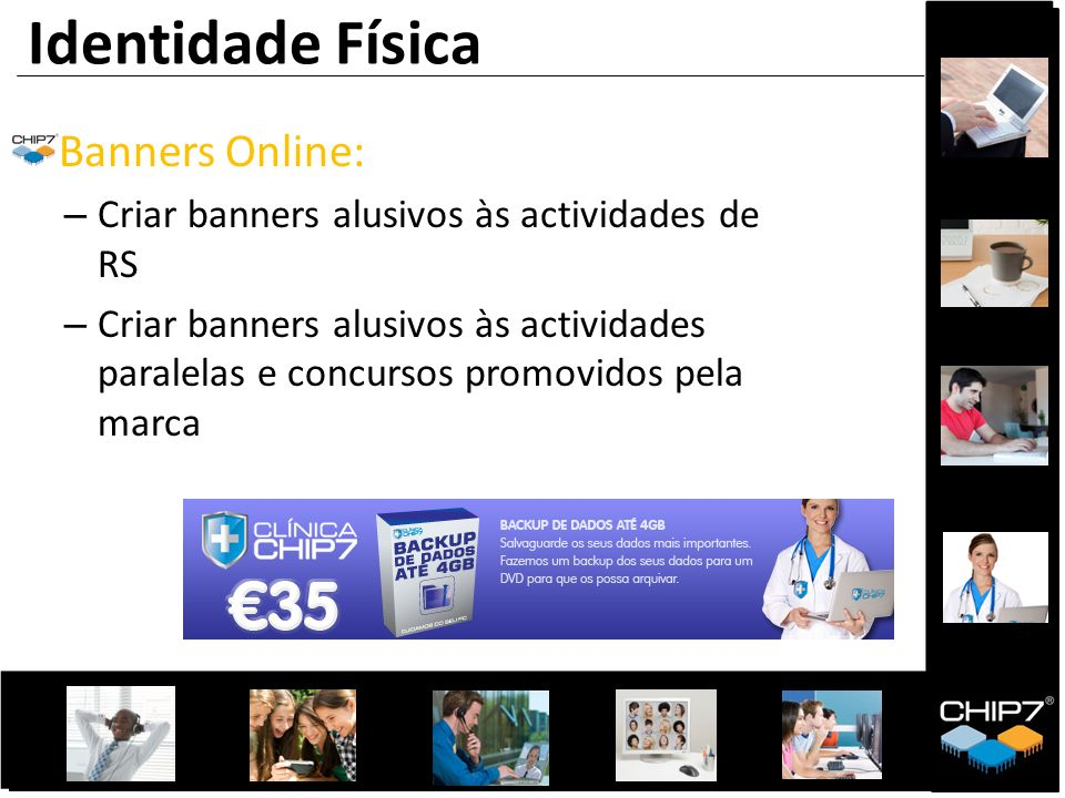 Identidade Física Banners Online: