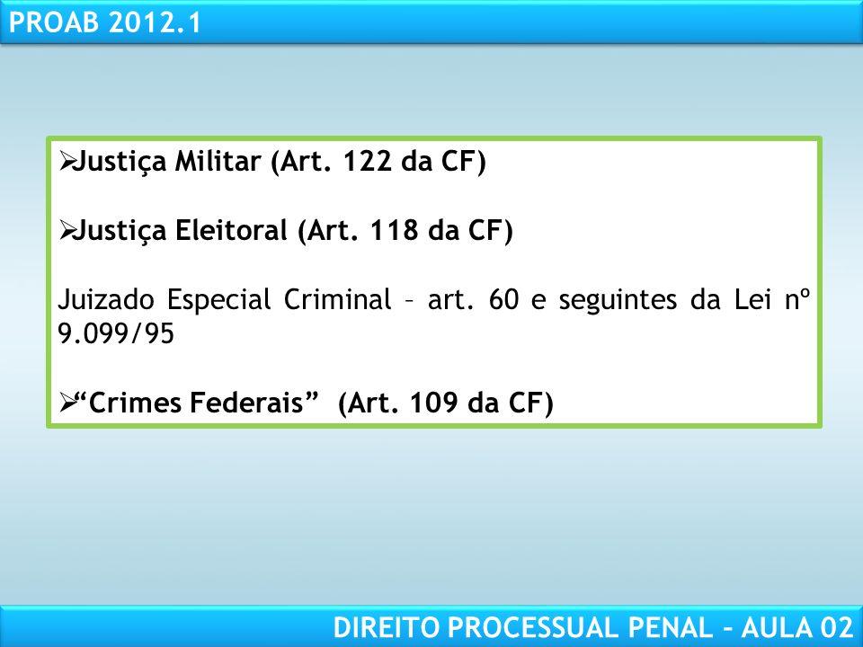 Justiça Militar (Art. 122 da CF)