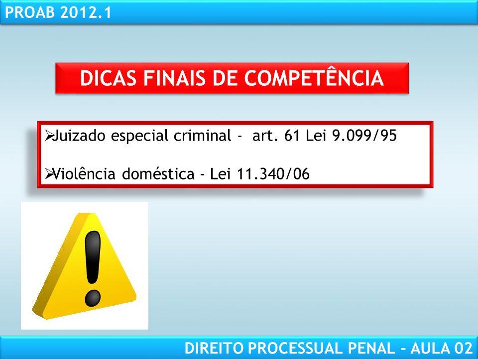 DICAS FINAIS DE COMPETÊNCIA