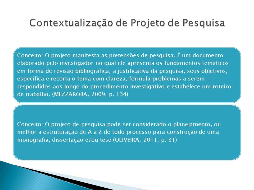 Contextualização de Projeto de Pesquisa