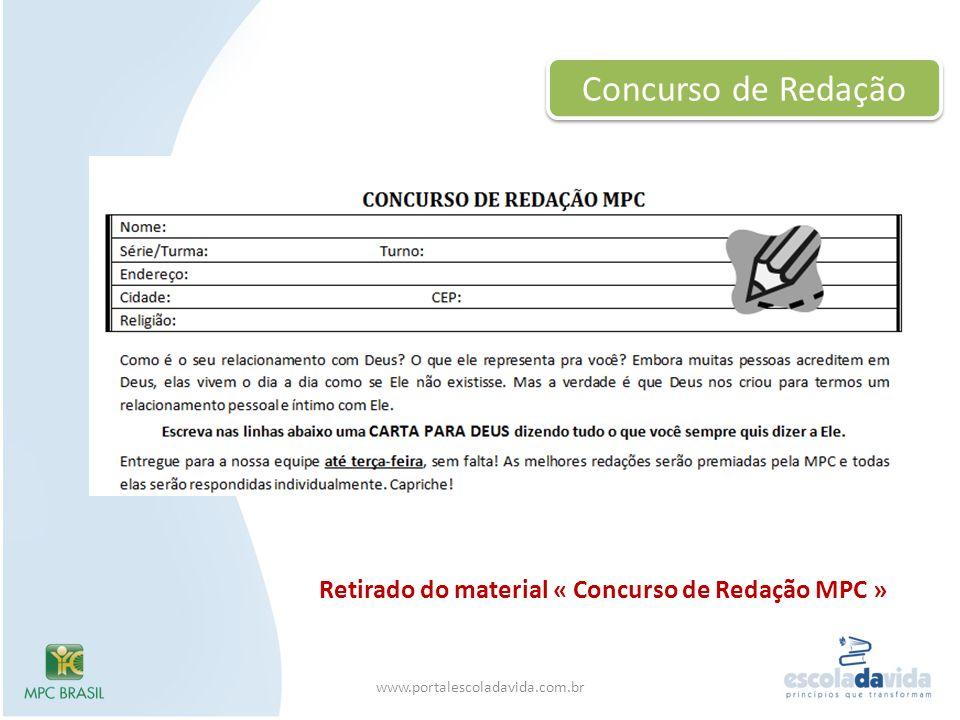Concurso de Redação Retirado do material « Concurso de Redação MPC »
