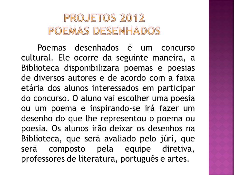 Projetos 2012 Poemas desenhados
