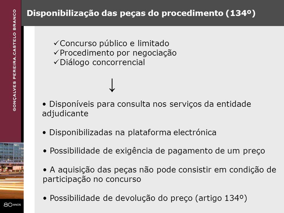 ↓ Disponibilização das peças do procedimento (134º)