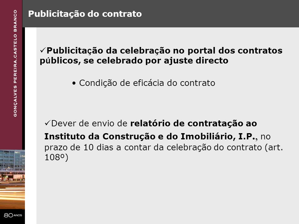 Publicitação do contrato