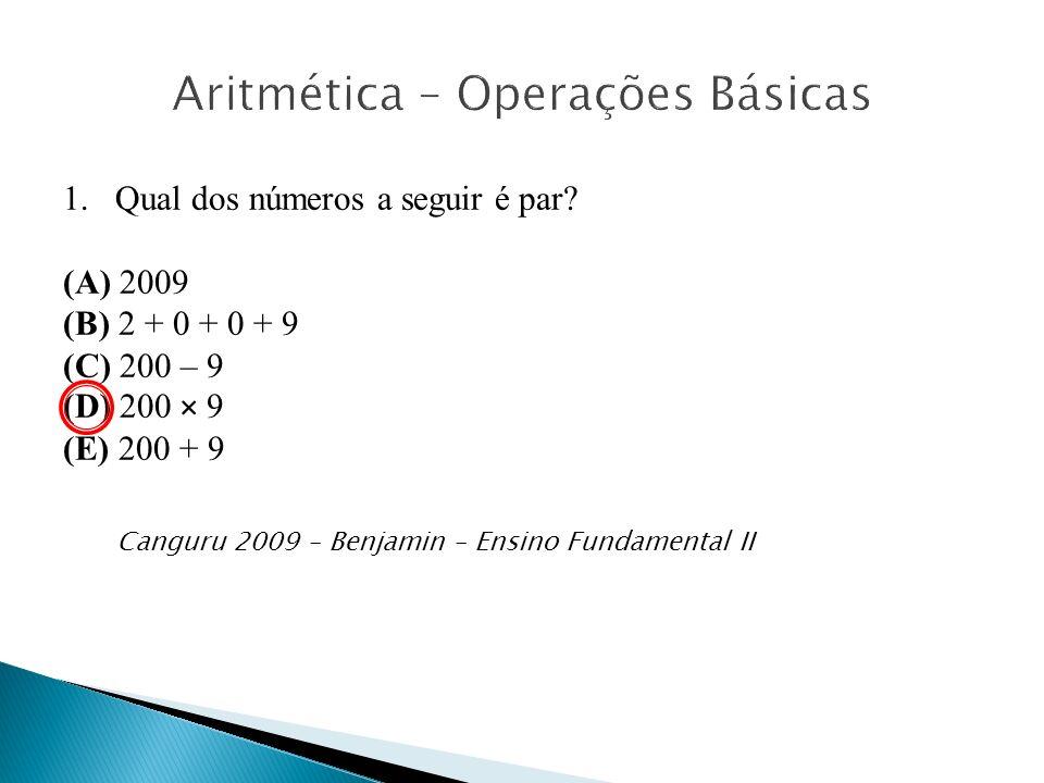 Aritmética – Operações Básicas
