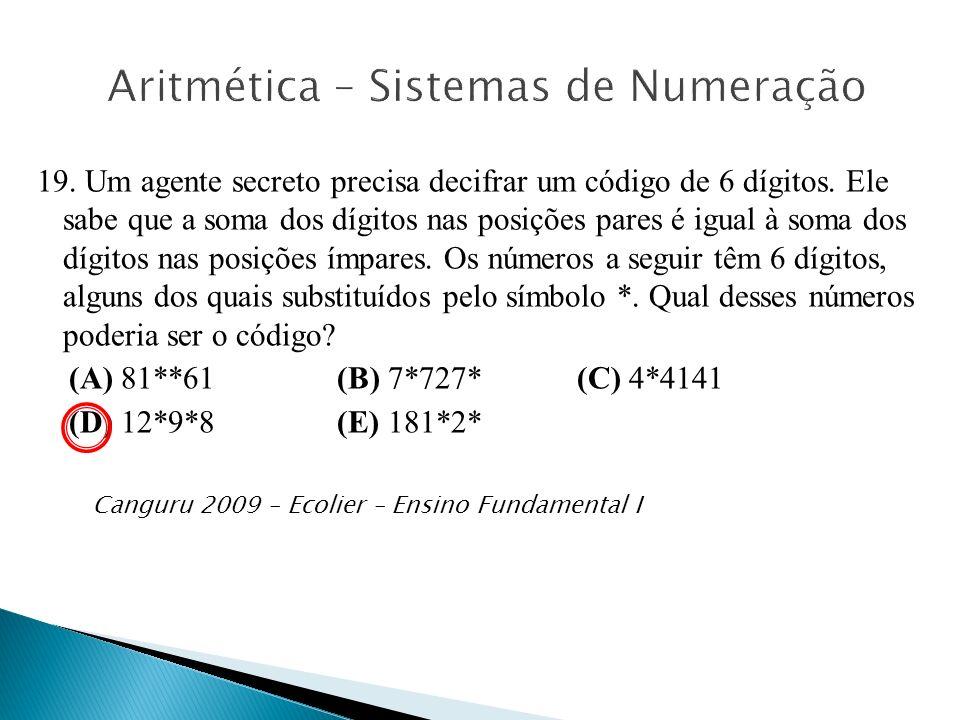 Aritmética – Sistemas de Numeração