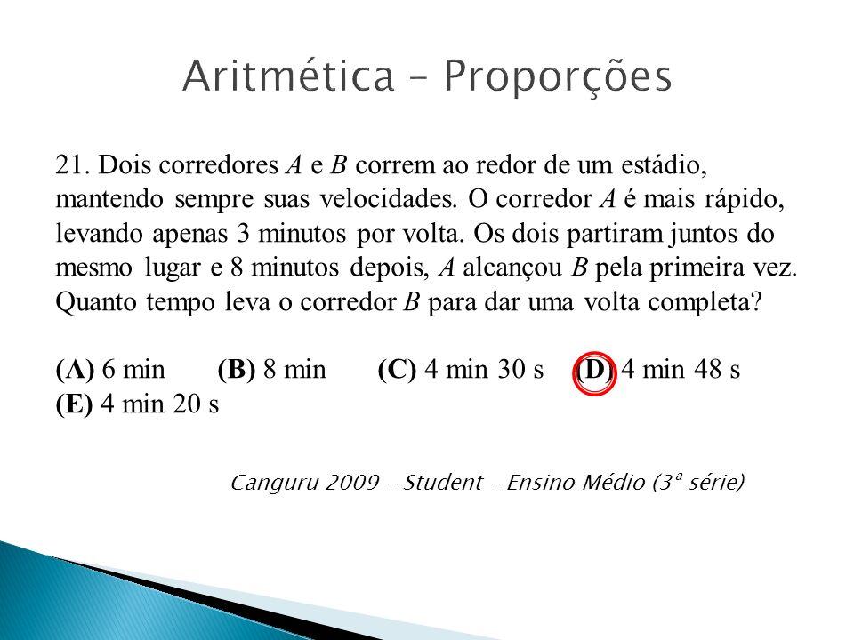 Aritmética – Proporções