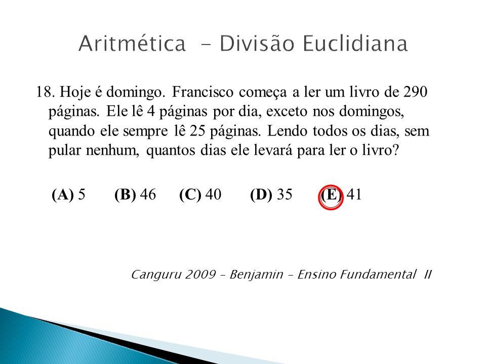 Aritmética - Divisão Euclidiana
