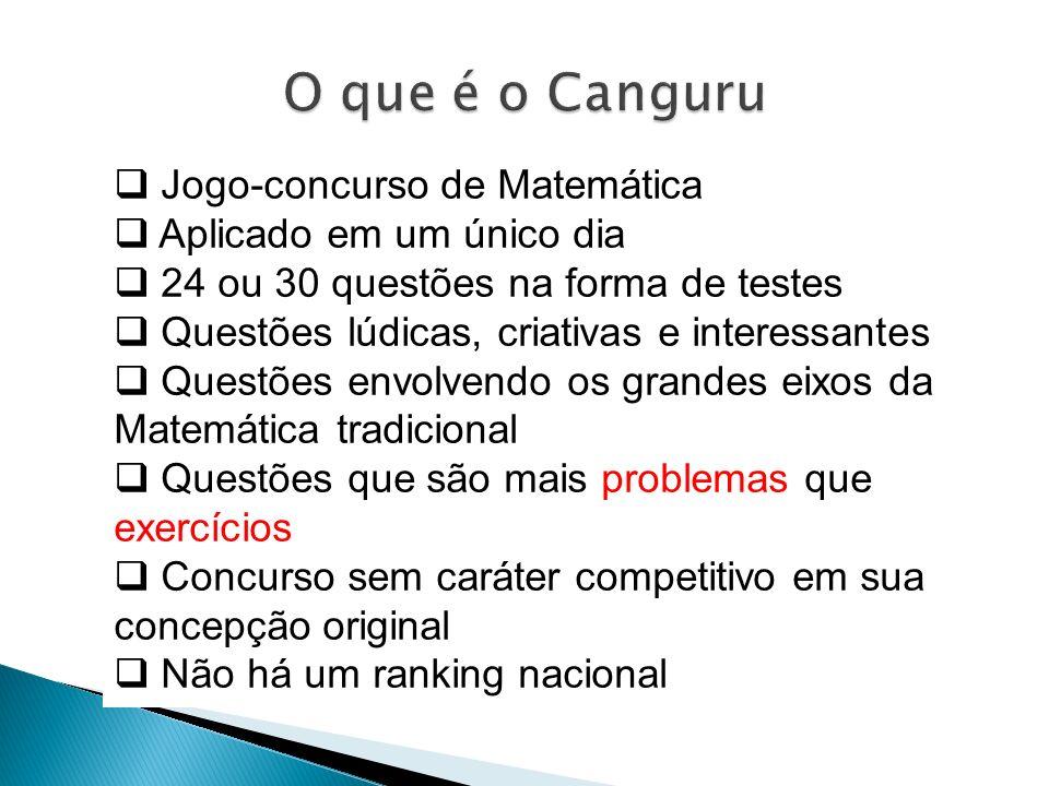 O que é o Canguru Jogo-concurso de Matemática Aplicado em um único dia