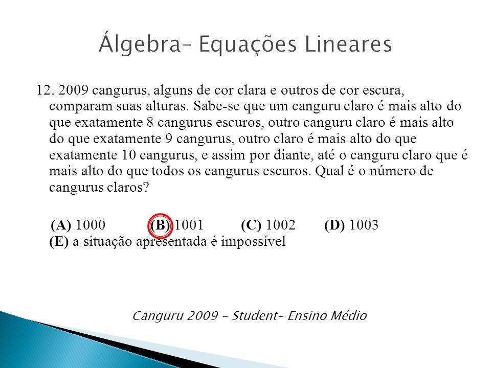 Álgebra– Equações Lineares