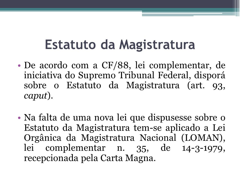 Estatuto da Magistratura