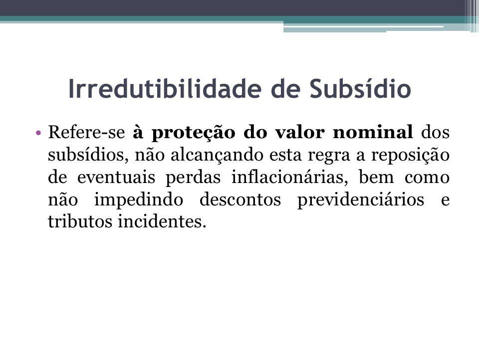 Irredutibilidade de Subsídio