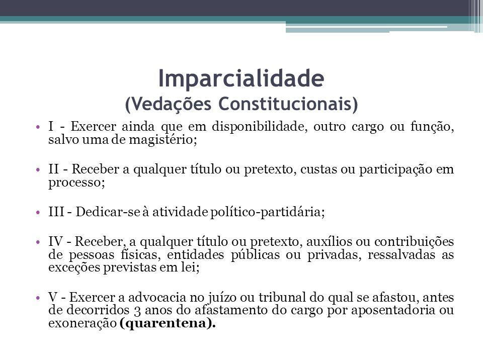 Imparcialidade (Vedações Constitucionais)