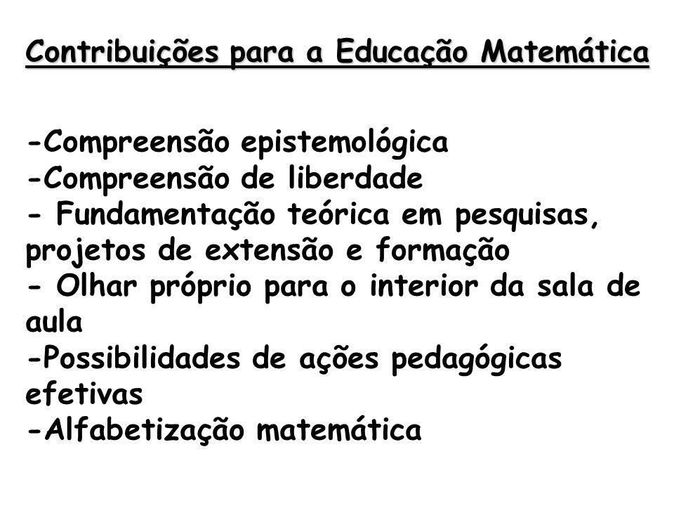 Contribuições para a Educação Matemática