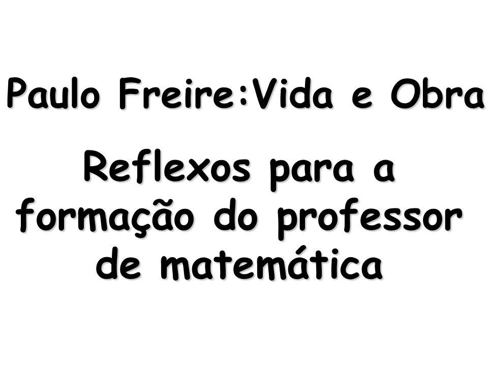 Reflexos para a formação do professor de matemática