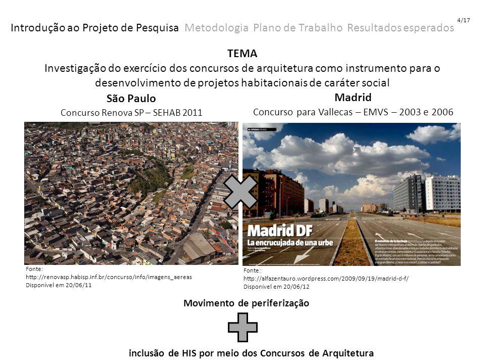 4/17 Introdução ao Projeto de Pesquisa Metodologia Plano de Trabalho Resultados esperados.