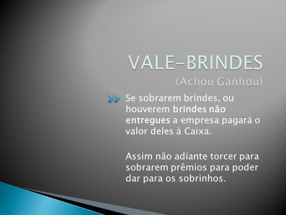 VALE-BRINDES (Achou Ganhou)