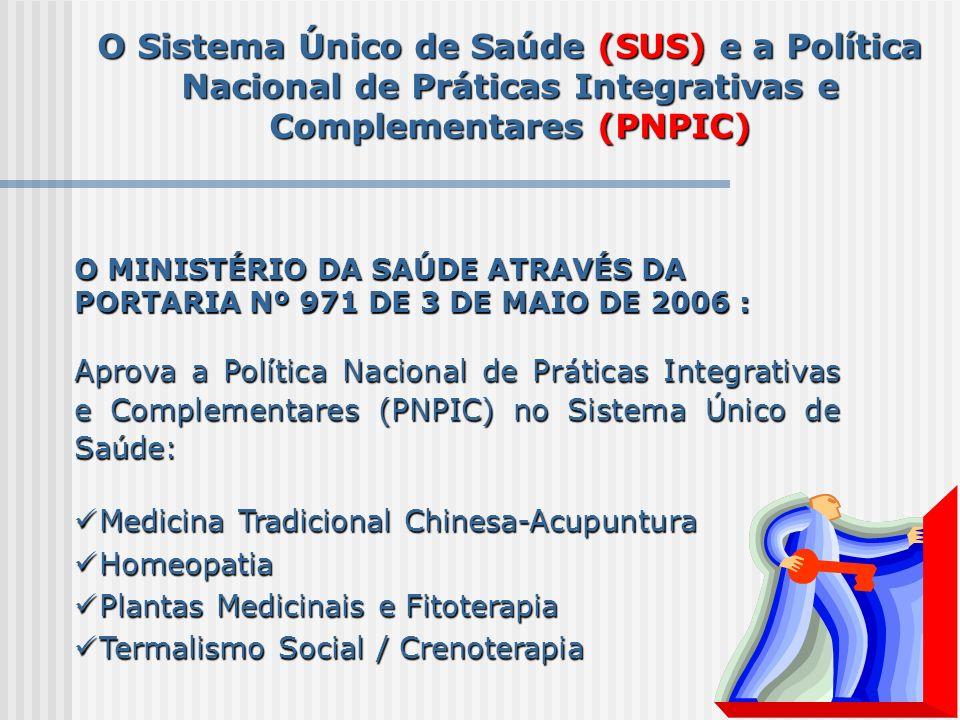 O Sistema Único de Saúde (SUS) e a Política Nacional de Práticas Integrativas e Complementares (PNPIC)