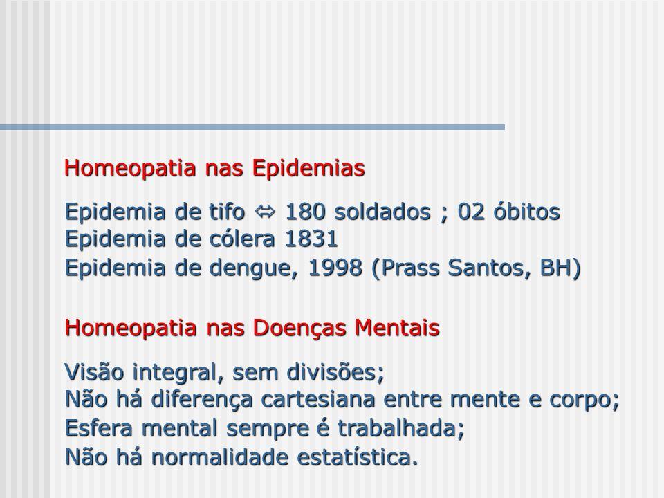 Homeopatia nas Epidemias