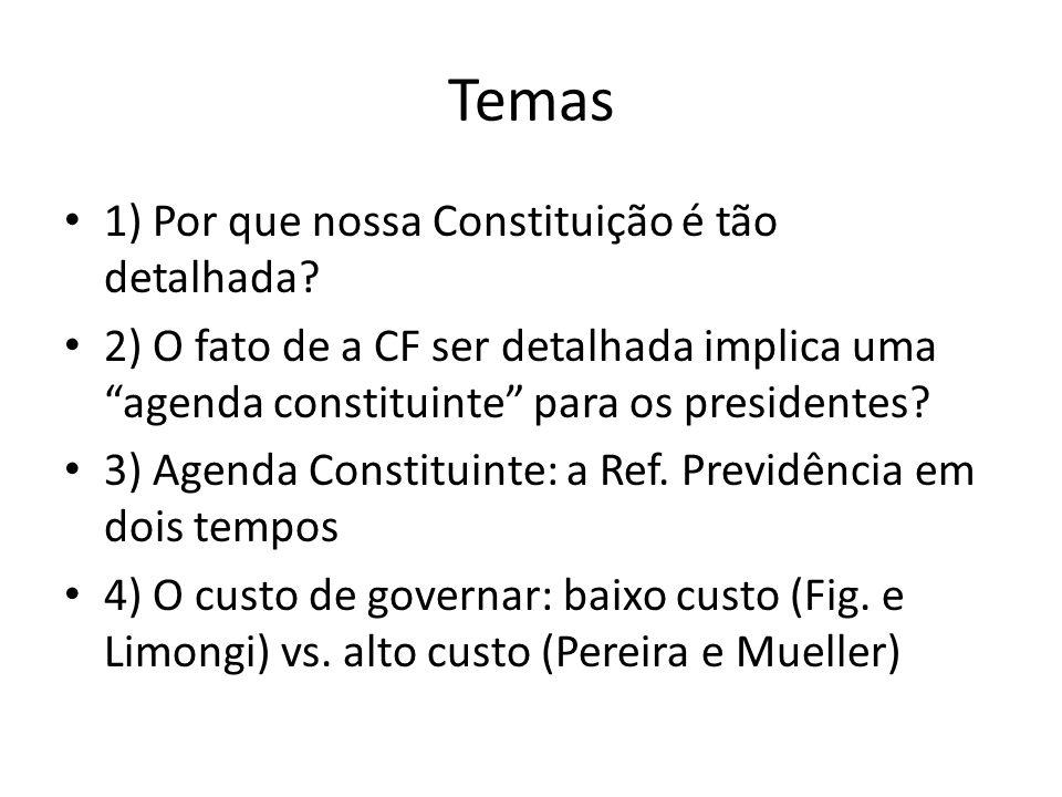 Temas 1) Por que nossa Constituição é tão detalhada