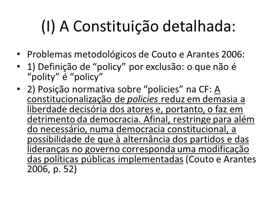 (I) A Constituição detalhada: